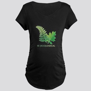 Be [Eco]Logical - Leaves Maternity Dark T-Shirt